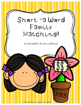Short -a Word Family Matching
