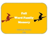 Short a Word Family Memory Game