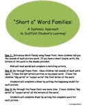 Short a Word Family Mini-Units: A Systematic Way to Scaffo
