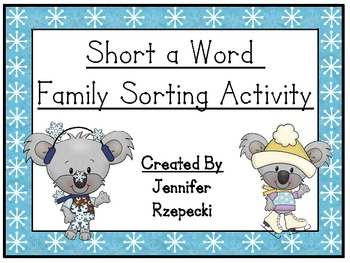 Short a Word Family Sort-Winter Theme