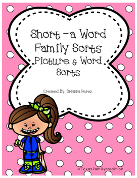Short -a Word Family Sorts