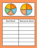 Short e Word Family Spinner Game (Real vs. Nonsense Words)