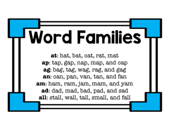 Short a Word Family Trains