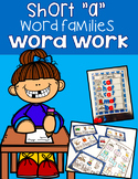 """Short """"a"""" Word Family Word Work"""