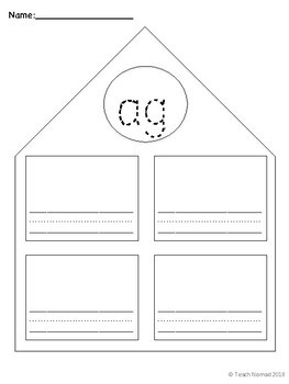 Short a Word Families Worksheets
