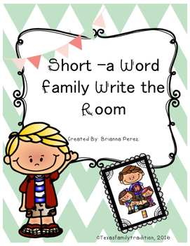 Short -a Word Family Write the Room