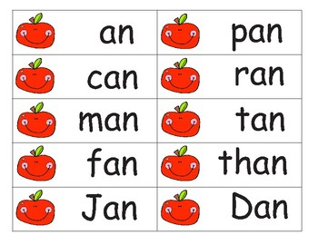 Short a Word Flashcards and Sentence Strips