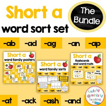 Short a Word Sorts Bundle