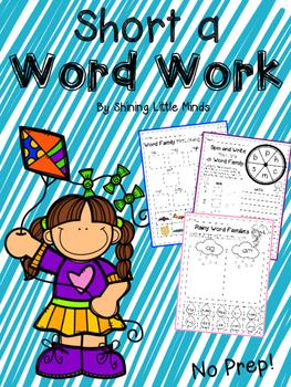 Short-a Word Work