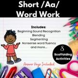 Short /Aa/ Word Work Printables