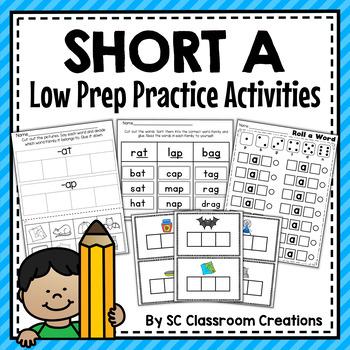 Short a Word Work Set