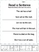 Short a Word Work Worksheets