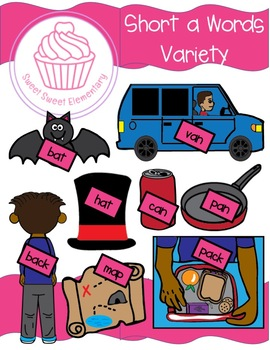Short a Words Variety Clipart