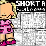 Short a Worksheets - CVC Words