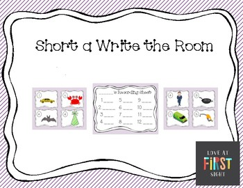 Short a Write the Room