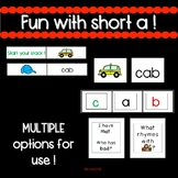 CVC short a -engaging activities for small group AND whole group !