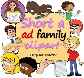 Short 'a' -ad Family Clipart