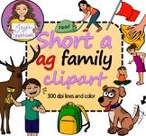 Short 'a' -ag Family Clipart