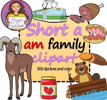 Short 'a' -am Family Clipart