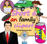 Short 'a' -an Family Clipart
