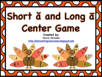 Short a and Long a Center Game