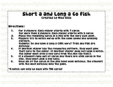 Short a and Long a GO FISH!
