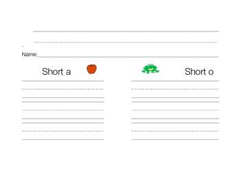 Short a and Short O sort