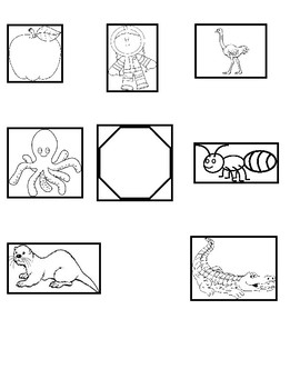 Short a and o Picture Sort