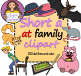 Short 'a' -at Family Clipart *FREEBIE*