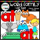 "Short a ""at"" Word Family Clipart"