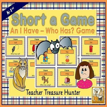 Short a card GAME I have who has  35 cards with pictures
