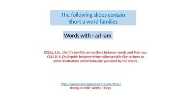 Short a family ad/am