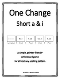 "Short a & i (CVC)- ""One Change"" Whiteboard Game"