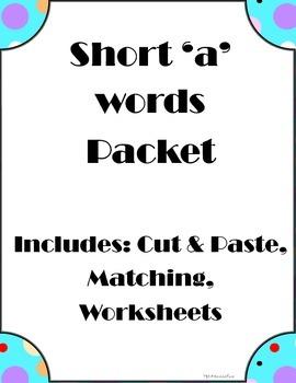 Short 'a' practice packet - phonics
