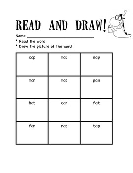 Short a read and draw activity