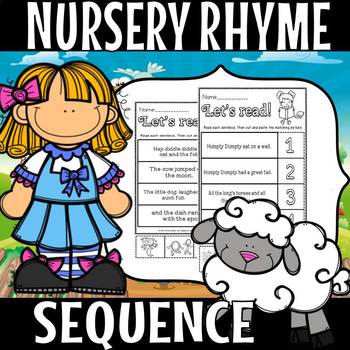 Nursery Rhyme sequence and cut and paste (50% off for 48 hours)