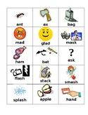 Short a vowel cards