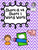Short a vs. Short i Independent Word Work