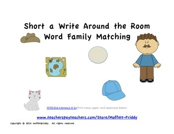 Short a word family Write Around the Room