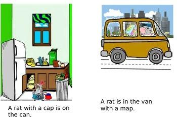 """Short """"a"""" phonics reader, Title: The Rats"""