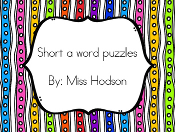 Short a word puzzles