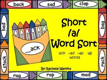 Short /a/ word sort -ack, -ap, -ad -ag