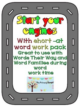 Word work, -at word family