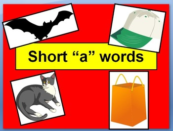 """Short """"a"""" words with narration"""