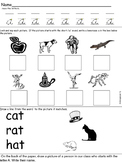 Short /a/ worksheet with handwriting practice