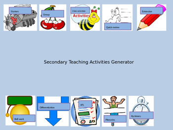 Short activities that can be used in most types of lesson