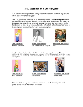 Short activity on Stereotypes