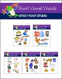 Short a,e,i,o,u Vowel Words Clip Art Bundle