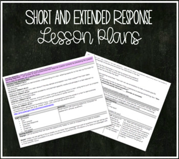 Short and Extended Response Lesson Plans for Test Prep