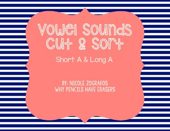 Short and Long A Cut, Sort, & Glue FREEBIE!